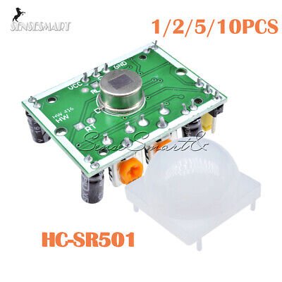 12510pcs Hc-sr501 Infrared Pir Motion Sensor Module For Arduino Raspber