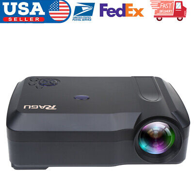 LED Smart Home Theater Projector Android 6.0  BT 1080P FHD 3D Video Movie