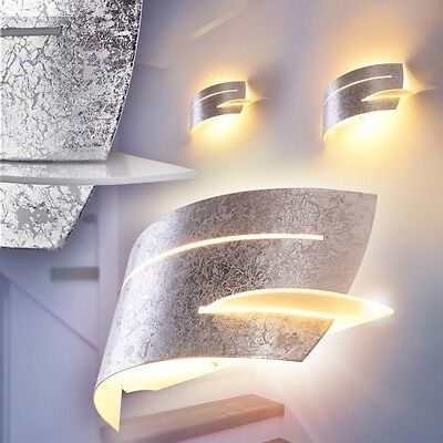 Moderne Wandleuchte Schlaf Wohn Zimmer Lampen Flur Wand Leuchten Silber Farben