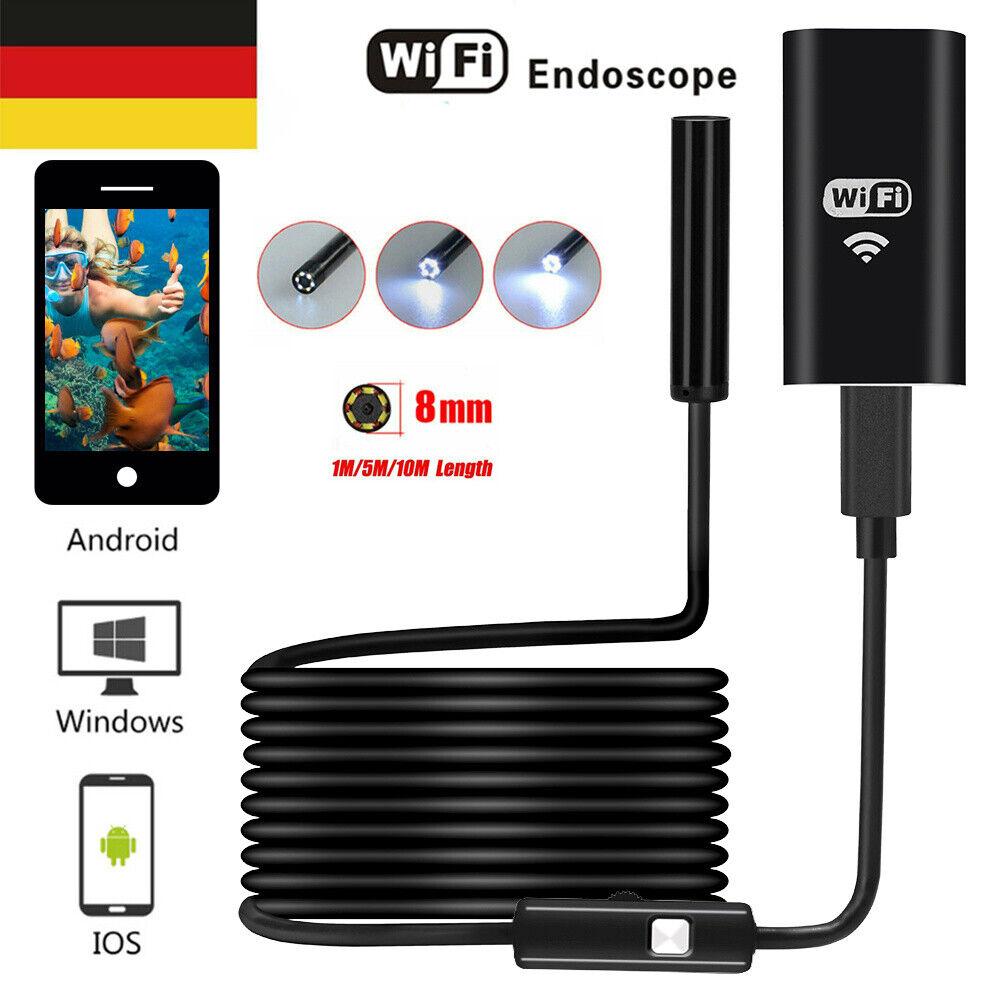 1M//5M//10M Wireless Endoskop Endoscope Inspektion Kamera Wifi Für Android IOS