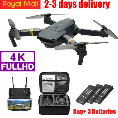 Drone Pro WIFI FPV 4K HD Camera W/ 3 Battery Foldable Selfie 2.4G RC Quadcopter