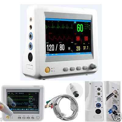 "CE Vital Signs Patient Monitor Hospital 7"" Screen 6 parameter ECG NIBP TEMP SPO2"