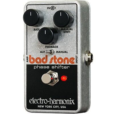 Electro-Harmonix Bad Stone Reissue Phaser Shifter Guitar Effect Pedal +Picks