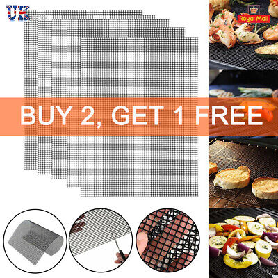BBQ Grill Mesh Non-Stick Mat Reusable Sheet Resistant Cooking Baking Barbecue