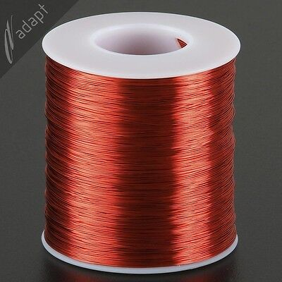 Magnet Wire, Enameled Copper, Red, 28 AWG (gauge), 155C, ~1 lb, 2000'