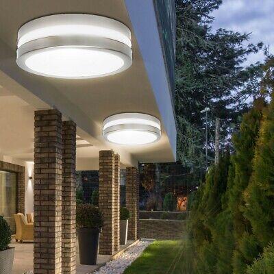 Cromo Cubrir Exterior Bombilla Diseño Lámpara Terraza Malo Salón Pasillo IP44