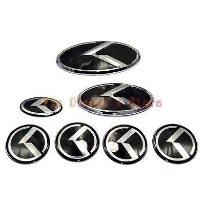 7pcs Kit Grille Trunk Wheel Rim 3D K Speed Emblem Badge for Kia K5 Optima 11-15