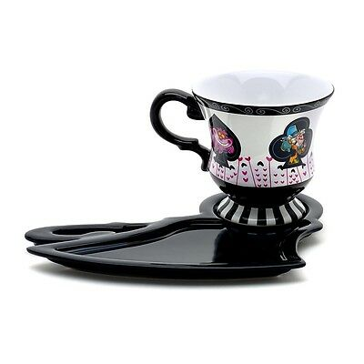 Disney Alice In Wonderland Tea Cup And Shadow Saucer Mad Hatter Mug Christmas
