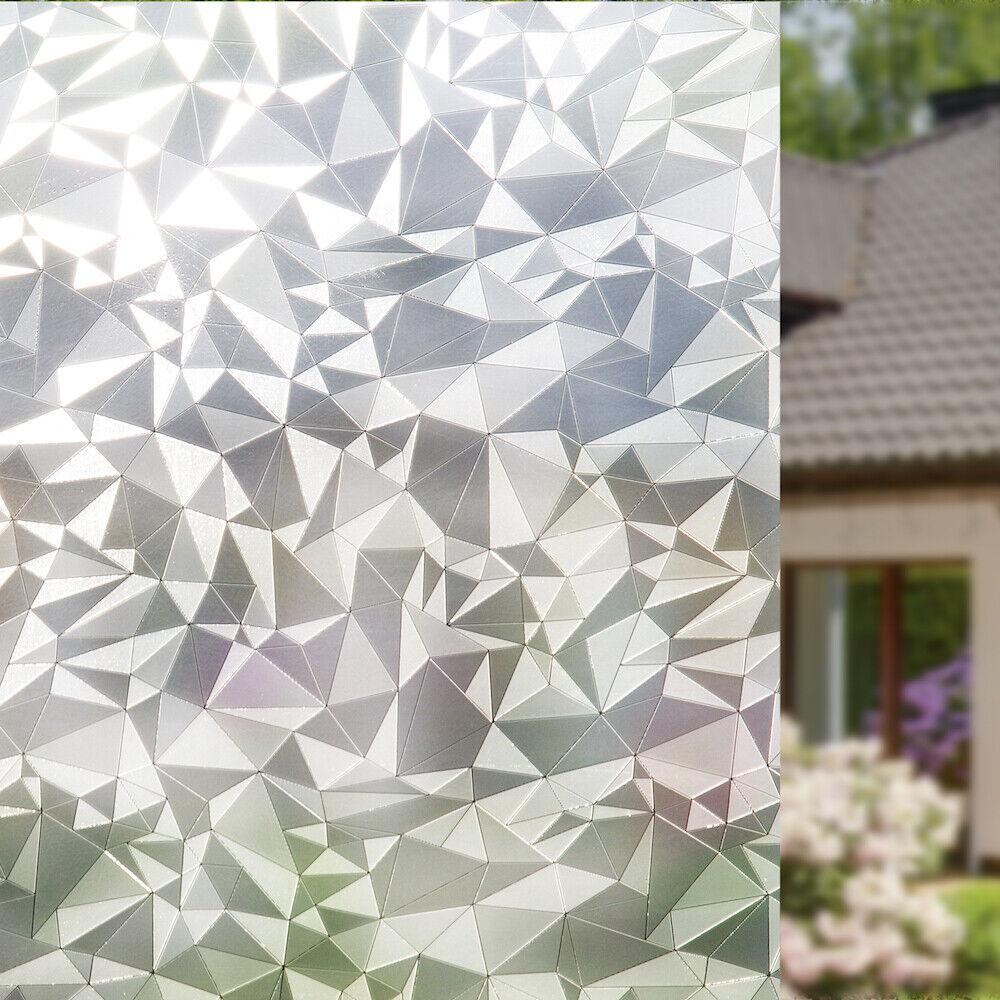 privacy window film non adhesive cut glass