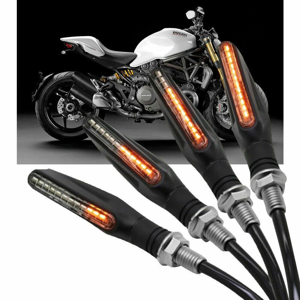 4x Moto Feux Universel Lumière Arrière Clignotant Signal Universel Éclairage