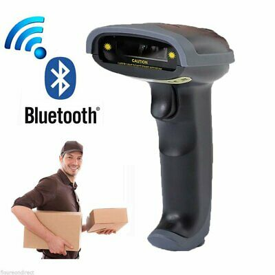 Wireless Bluetooth Automatic Barcode Scanner Gun Handheld Laser Reader Usb Cable