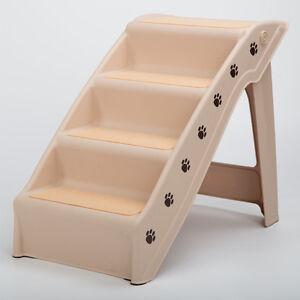 RayGar Dog Pet Plastic Ramp Access Steps Foldable Stairs Lightweight Travel