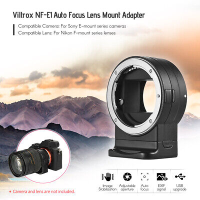 Viltrox Auto Focus Lens Adapter For Nikon F-Mount Series Lens to Sony E-Mount