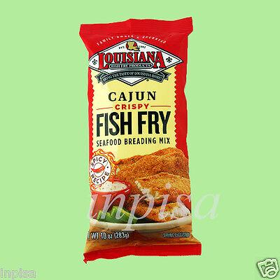 LOUISIANA FISH FRY 3 Bags x 10oz CAJUN CRISPY SEAFOOD BREADING (Breaded Fish)