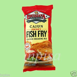 Louisiana fish fry 6 bags x 10oz cajun crispy seafood for Fish fry mix