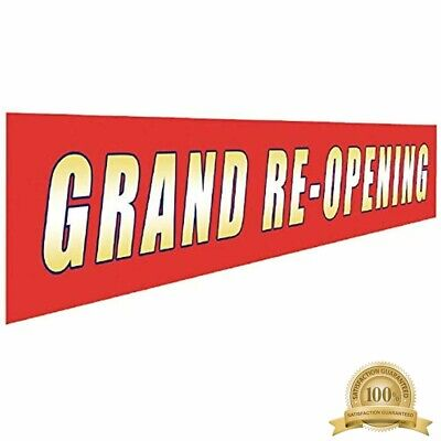 Grand Re-opening Banner Large Store Advertising Sign Business Restaurant Shop