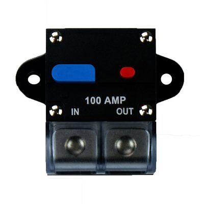 100a Amp Manual Reset Inline Circuit Breaker Platinum Terminal Block Marine Auto