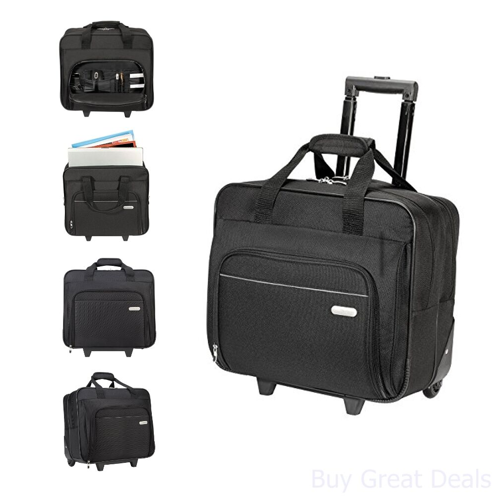 Targus Metro Rolling Case For 16-inch Laptop, Black (Tbr003us) 11
