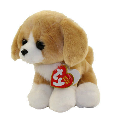 "TY Beanie Baby 6"" FRANKLIN Brown Dog Plush Stuffed Animal MWMT's Heart Tags 2018"