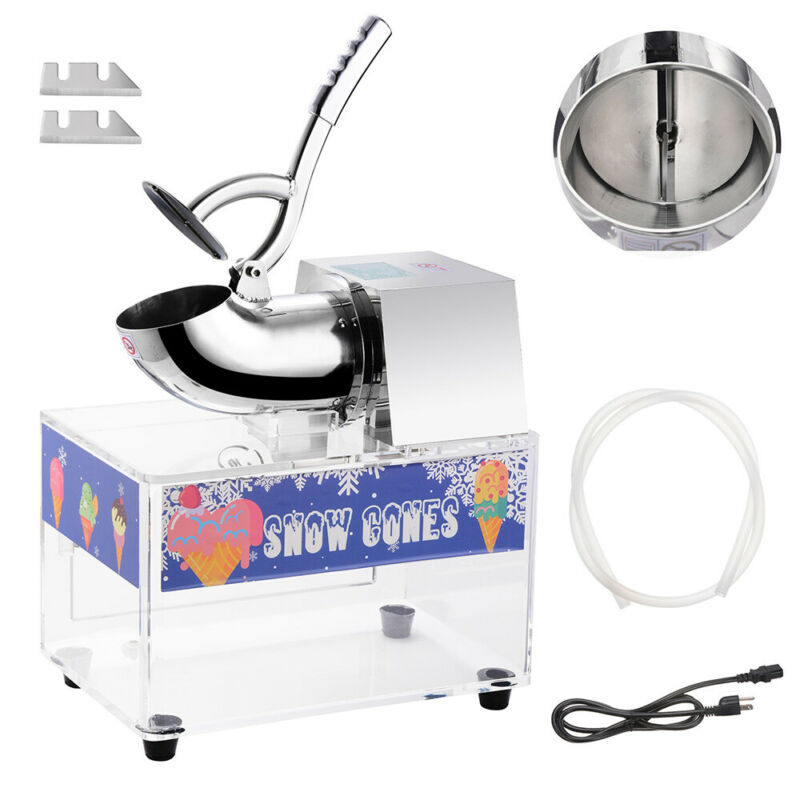 PRE-SALE Electric Snow Cone Machine Maker Stainless Steel Ice Shaver Crusher