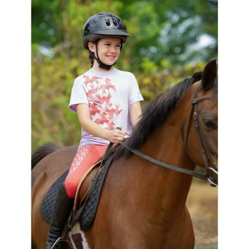Kerrits Kids Performance Knee Patch Tight-M-Poppy Origami Horse