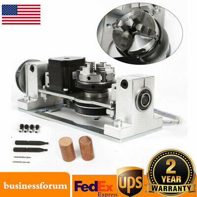 Cnc 5 Axis Rotary Axis Engraving Machine Milling Drilling With Chuck Table Sale