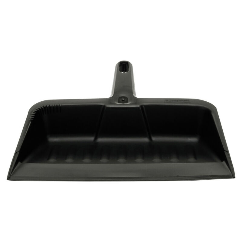 Rubbermaid Commercial 2005CHA 8-1/4 in. Heavy-Duty Poly Dustpan (Charcoal) New