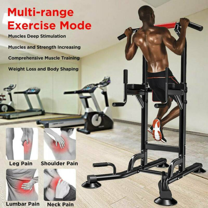 Pull Up Power Tower Gym Training Equipment Workout Dip Stati