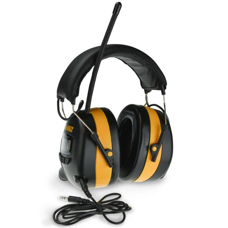 DEWALT AM/FM Digital Tune Ear Muff with Aux Connection DPG15 New