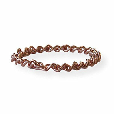 Solid Copper Non Magnetic Women's Chain Bracelet Relieves Joint Pain 6.75