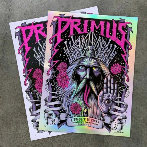 Primus Wallingford Brandon Heart Rainbow Foil Poster Confirmed Order LE 40