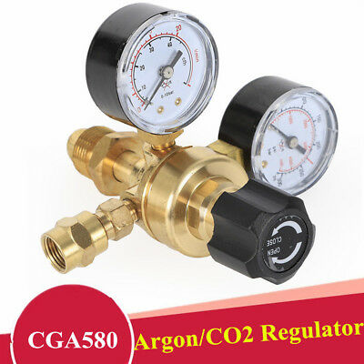 2 Pressure Reducer Argon Mig Flow Meter Control Valve Welding Regulator 4000psi