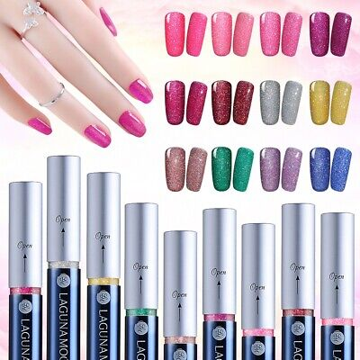 Lagunamoon Bling Neon Color Gel Nail Polish Gel Pen Manicure Salon Nail Art Gift Neon Gel Pen