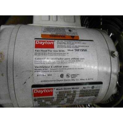 Dayton 5m199a 24dia Industrial Wallmounted Air Circulator 13 Electric Motor