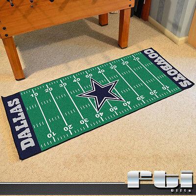 Dallas Cowboys NFL Football Field Runner Floor Door Mat Rug Carpet 30