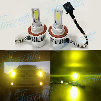 NEW 9008 H13 3000K Yellow 55W 8000LM Cree Led Headlight Bulbs Kit High Low (Best Car For Taxi 2019)