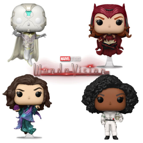 Official WandaVision Scarlet Witch White & Vision Marvel Funko Pop Vinyl Figures