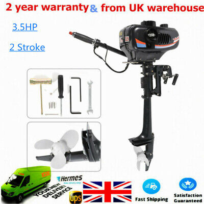 UK Outboard Motor Boat Engine Water Cooling CDI System 3.5HP 2 Stroke Heavy Duty