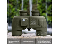QUNSE X25 Compass and Rangefinder 10x50mm Large Object Lens Military Navigation HD