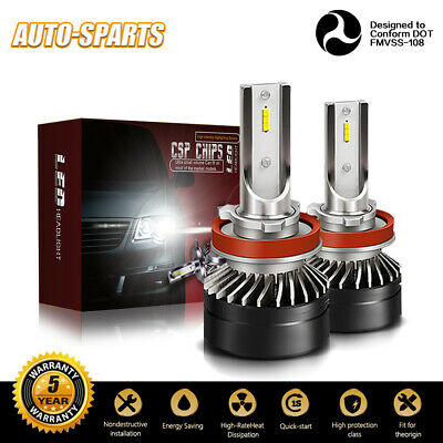 H11 H8 H9 H16 LED Fog Light Bulb Conversion Kit Premium 6500K Low Beam White (Best Projector For 200)