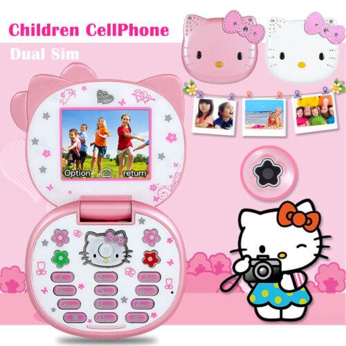 Unlocked K688 Flip Cute Lovely Small Mini Phone For Women Kids Girls Dual Sim US Cell Phones & Accessories