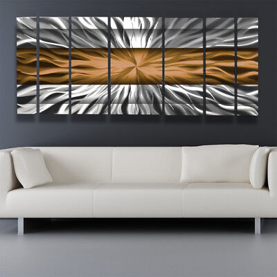 Copper Metal Wall Art Decor Panels Modern Abstract Sculpture Painting Home  ()