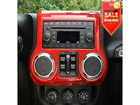 Red Interior Center Control Panel Trim Cover for Jeep Wrangler JK 2011-2017 NE