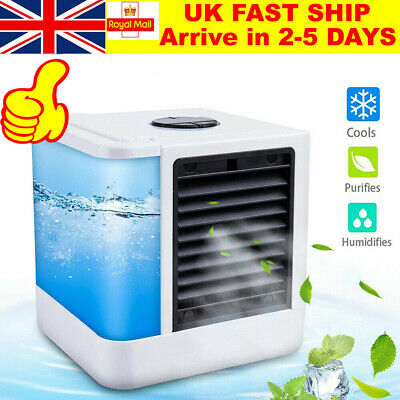 Air Conditioner Portable USB Fan Cooler Humidifier Evaporative Cooler Cooling UK