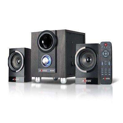 BLUETOOTH WIRELESS MINI SHELF HOME THEATER ENTERTAINMENT SYSTEM USB MP3 PLAYER
