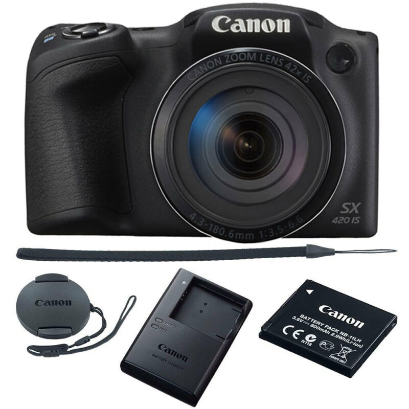Canon PowerShot SX420IS 20.0-Megapixel Digital Camera Black 1068C001