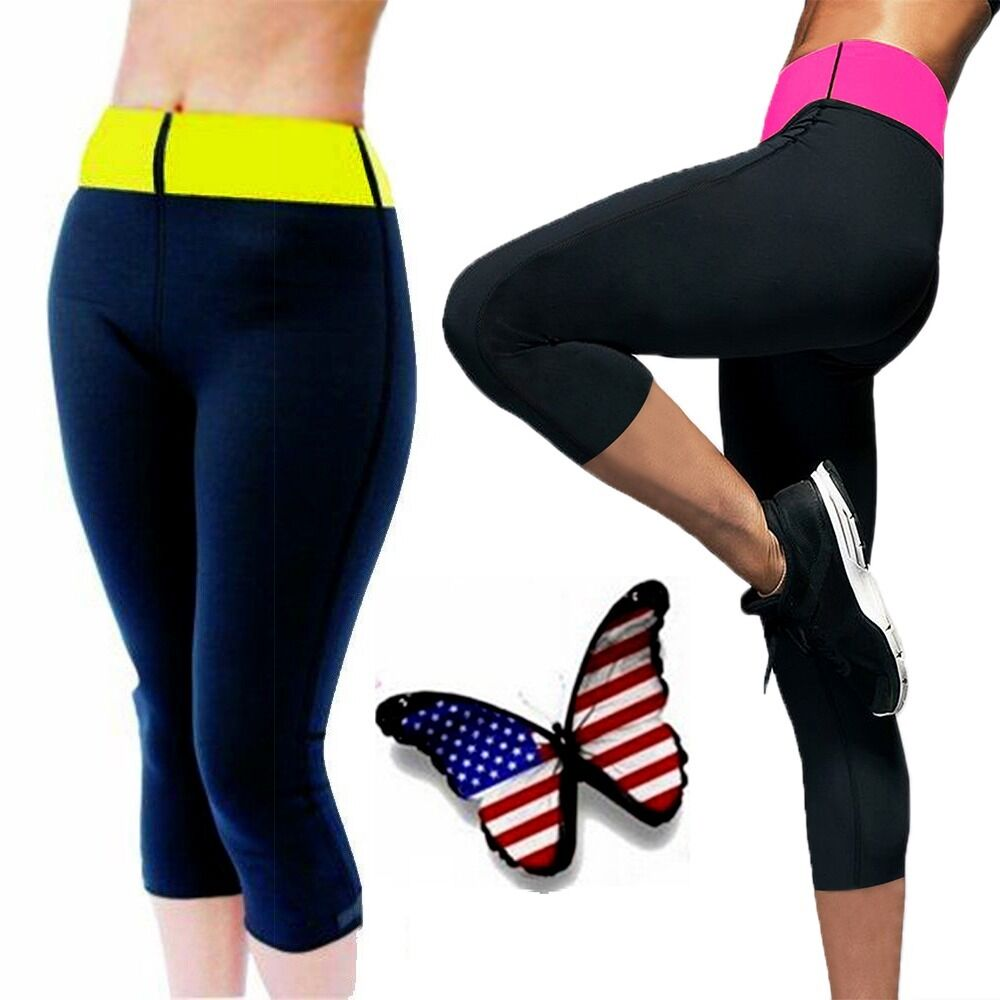 US Women Shapers Slimming Sports Pants for weight loss Sauna