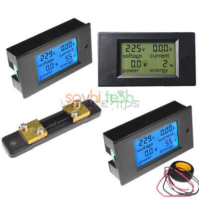 Lcd Dc 6.5100v 20a 50a 100a Combo Panel Display Volt Amp Power Watt Meter