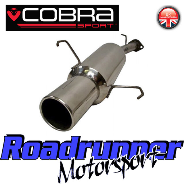 "VA12 Cobra Sport Astra G MK4 Hatch Stainless Back Box Rear Silencer Exhaust 2"""