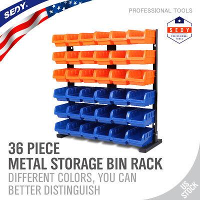 36 Bin Storage Box Rack 6 Shelf Shelving Commercial Storing Shelves -
